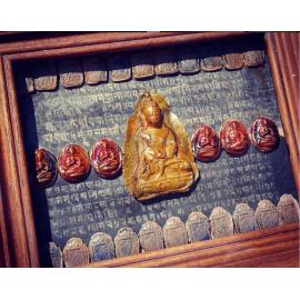 Tableau énergétique de décoration méditative - bouddhas