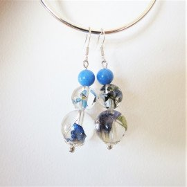 B.O Camaïeu de fleurs bleues
