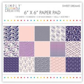 Bloc papier - Sweet dreams - Simply Creative