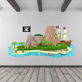 Stickers île aux pirates