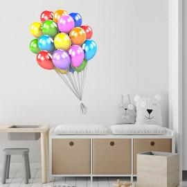 Stickers grappe de ballons multicolores