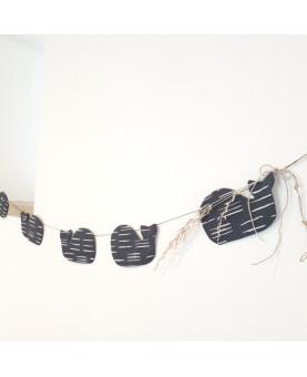 Guirlande baleine - guirlande chambre de bébé - décoration chambre bébé - décoration pour enfant