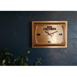 """Horloge vintage, pendule murale """"Jazz dorée"""""""