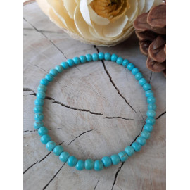 Bracelet fin en pierres naturelles HOWLITE turquoise - Alban