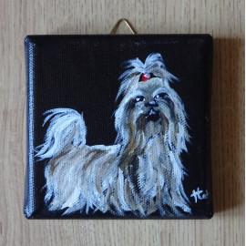 Mini tableau chien Shih Tzu