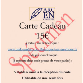 CARTE CADEAU 15€