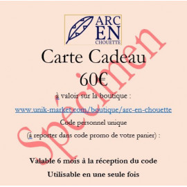 CARTE CADEAU 60€