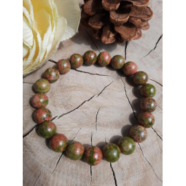 Bracelet homme ou femme en pierres naturelles UNAKITE - Marin