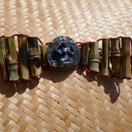 Bracelet Bijou en Bambou - Amulettes Tsa Tsa divinité manjushree