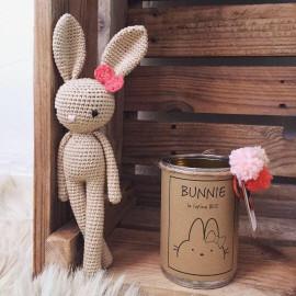 BUNNIE avec son petit noeud en coton BIO