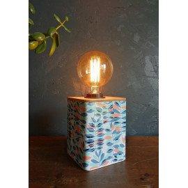 """Lampe vintage lampe de chevet lampe de bureau métal bambou """"Végétal"""""""