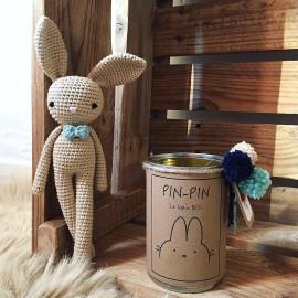 PIN-PIN le lapin BIO à PERSONNALISER