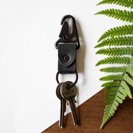 Porte-clé en cuir Noir, Porte-clé HK