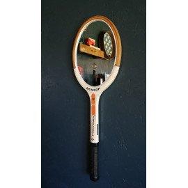 """Miroir mural raquette miroir ovale raquette tennis """"Dunlop Pioneer"""""""