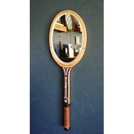 "Miroir mural raquette miroir ovale raquette tennis ""Marco Pierre Darmon"""