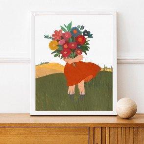 Affiche chambre enfant A3 - Bouquet de Fleurs