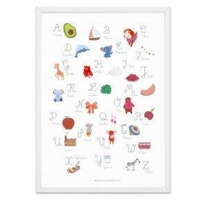 Affiche Abécédaire A3, chambre bébé/enfant