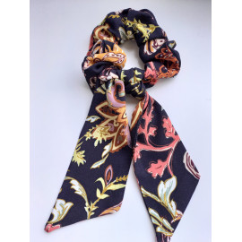 Foulchie ou chouchou foulard en viscose - Scrunchie - Scrunchy.