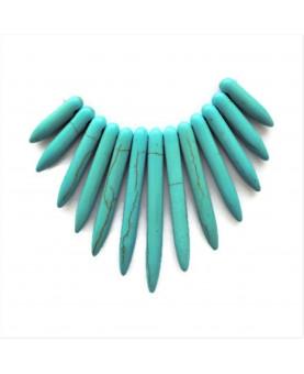 Pendentifs pointes dégradées howlite turquoise (13)
