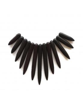 Pendentifs pointes dégradées howlite noir (13)