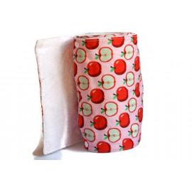 Rouleau d'essuie-tout lavable - 10 feuilles - Pomme rouge et rose - coton et éponge