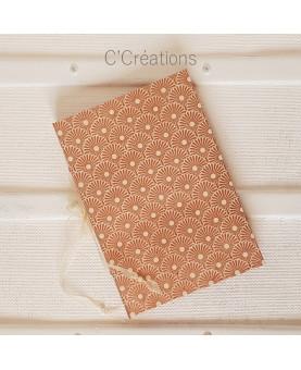 Livre d'or mariage - Pink Gold - motif géométrique, cristal et organza