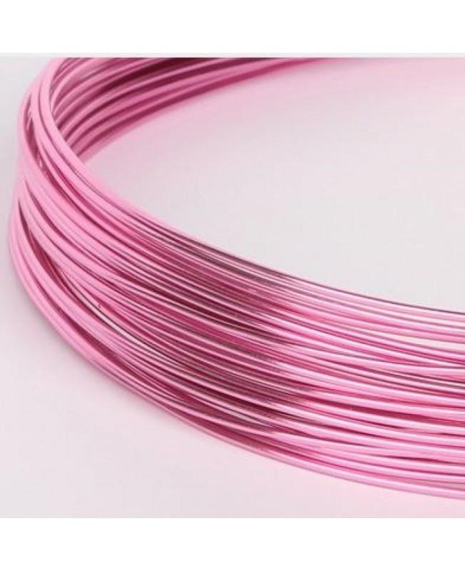 10 Mètres fil aluminium turquoise 0.8 mm