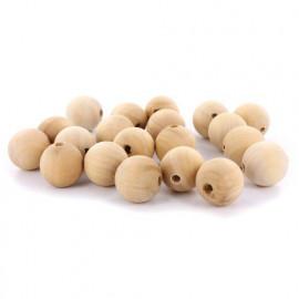 Perles en bois - 25 mm - 20 pièces