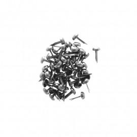Attaches parisiennes - 4 mm - chrome - Kesi'art - x 50