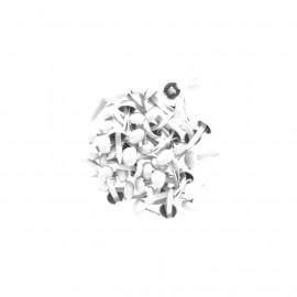 Attaches parisiennes - 4 mm - blanc - Kesi'art - x 50