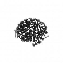 Attaches parisiennes - 4 mm - noir - Kesi'art - x 50