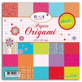 Papier origami - Bohème - Toga - 15 x 15 cm