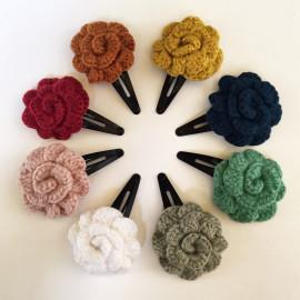 Barrettes clic-clac fleur