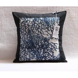 Housse de coussin Corail Bleu