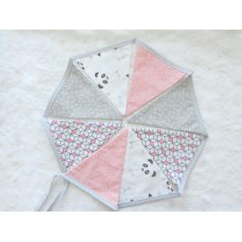 Guirlande fanions decoration chambre enfant, bebe, motifs triangle, panda, geometrique
