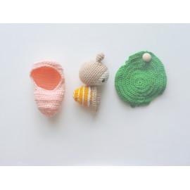 Jouet escargot, cadeau jouet ludique, jouet d'éveil enfant, coton, jouet ludique, cycle vie escargot