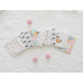 Lingettes lavables zéro déchet originales, lingettes démaquillantes ou pour la toilette de bebe