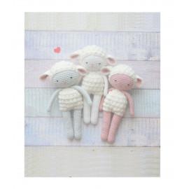 Mouton agneau coton BIO, peluche doudou mouton