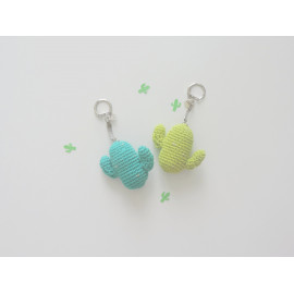 Porte clés cactus, peluche miniature