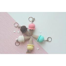 Porte clés glace, peluche miniature