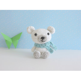 Porte clés ours polaire teddy peluche miniature decorative