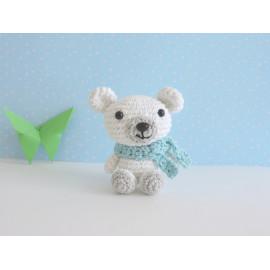 Porte clés ours polaire teddy peluche miniature decorative