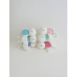 Porte clés Tortue peluche miniature decorative