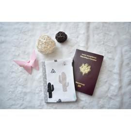Protège passeport, porte passeport original, tissus cactus