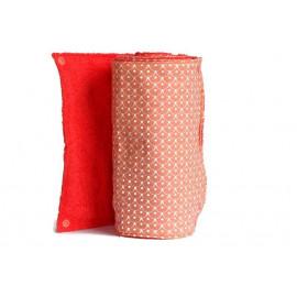 Rouleau d'essuie-tout lavable - 8 feuilles - écailles orange et blanc - coton et éponge