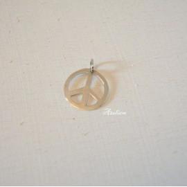 Pendentif - PEACE - Argent