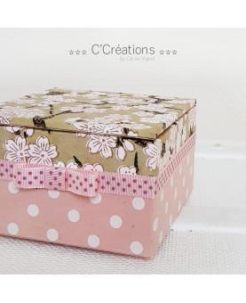 Coffret ☆ Hana ☆  boite à bijoux, décoration, écrin ou bonbonnière