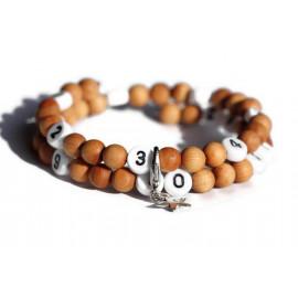 Bracelet d'allaitement en bois- perles santal