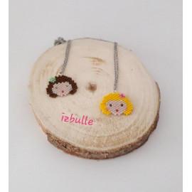 Collier Tasha, perles Miyuki, acier inoxydable