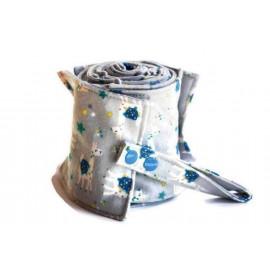 Rouleau de 20 feuilles de papier toilette lavable en flanelle - gris claire et lamas